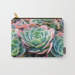 Succulent Garden Vibrant Pastel Carry-All Pouch