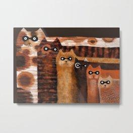 Cat Burglars Metal Print