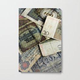 Old German money Metal Print