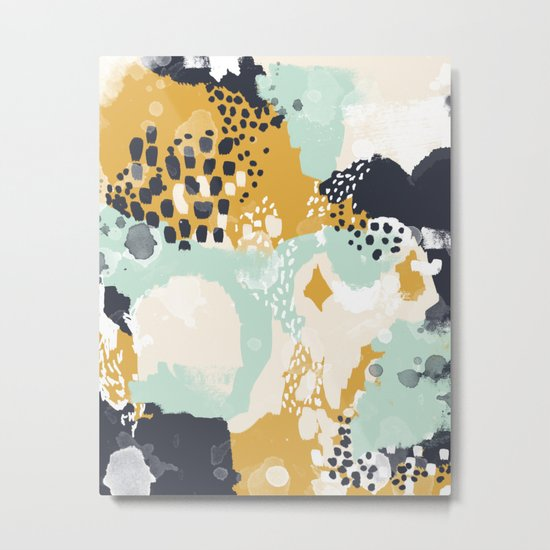 Tinsley - Abstract painting in bold, modern, bright colors Metal Print