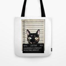 Kitty Mugshot Tote Bag