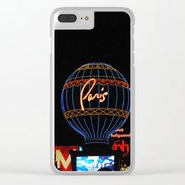 Paris in Las Vega Clear iPhone Case