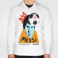 messi Hoodies featuring Messi by SNACKONART