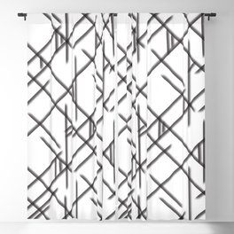 Abstract Airbrush Geometry Blackout Curtain