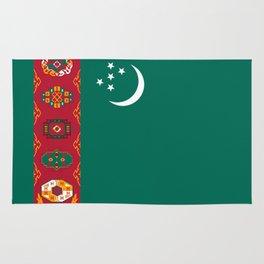 Turkmenistan country flag Rug