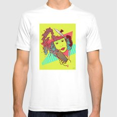 Morning bust hello Mens Fitted Tee MEDIUM White