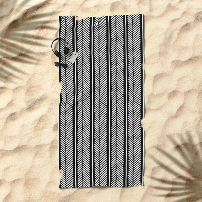 Herringbone Stripe Beach Towel