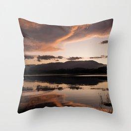 beautiful sunset reflection Throw Pillow