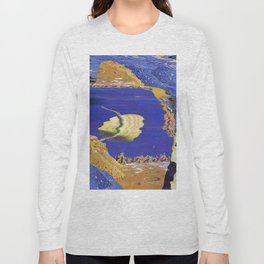 Titan's View Of Saturn As They Pass Through (2015) Long Sleeve T-shirt