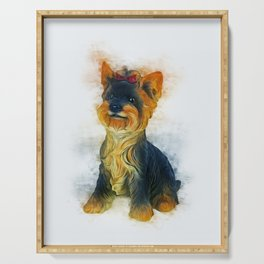Yorkshire Terrier Serving Tray