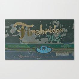 SRC Preparations Firebridge Tires Vintage Poster No1 Canvas Print