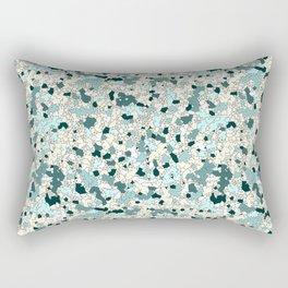 Broken Camo Teal Rectangular Pillow