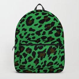 Emerald Cheetah Print Backpack