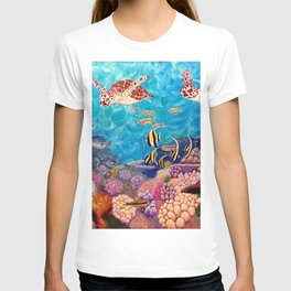 Zach's Seascape - Sea turtles T-shirt