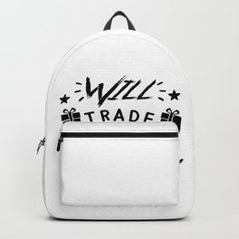 Will Trade Sister For Presents Funny Christmas Saying Backpack