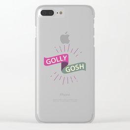 Golly Gosh! Clear iPhone Case