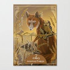 solar owls ceres  Canvas Print
