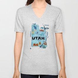 UTAH map Unisex V-Neck