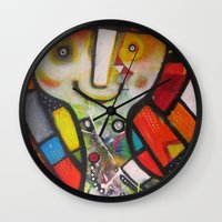 instagram Wall Clocks featuring Miss Instagram  by SheThinksinColors