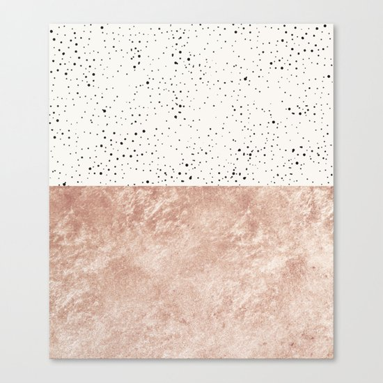 Mischievous Polka #society6 Canvas Print