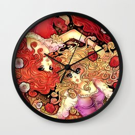 Snow White & Rose Red 2 Wall Clock