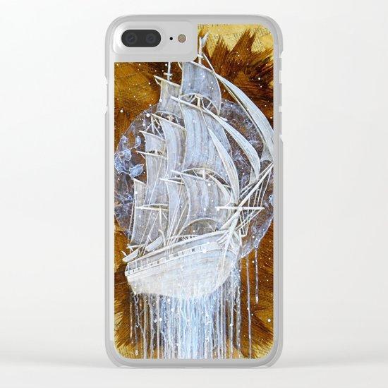 """Man-O-War III"" Clear iPhone Case"