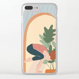Yoga girl Clear iPhone Case