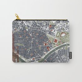 Seville city map engraving Carry-All Pouch