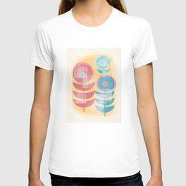 Three Flowers in Retro Style T-shirt