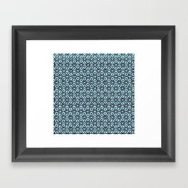 Pattern in Blue Framed Art Print