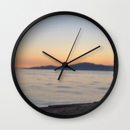 just beyond the ledge Wall Clock