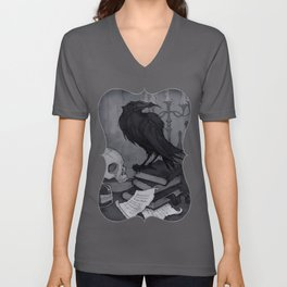 Once upon a Midnight Dreary Unisex V-Neck
