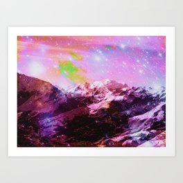 Crystal Mountain Art Print