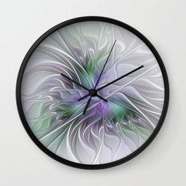 Abstract Floral Fractal Art Wall Clock