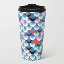 Beautiful abstract vector illustration with curls and waves Travel Mug