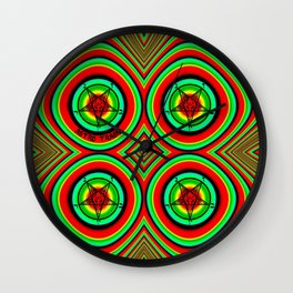 Trippy Satanic Wall Clock