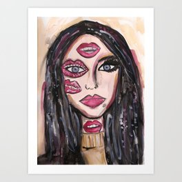Lip Makeup Art Print