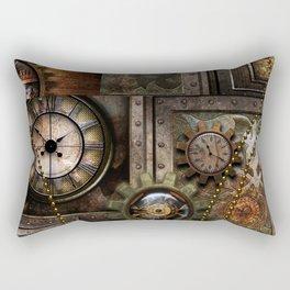 Steampunk, wonderful clockwork with gears Rectangular Pillow