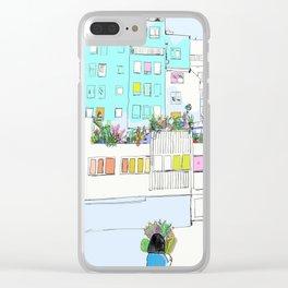 Quartier de l'Horloge Clear iPhone Case