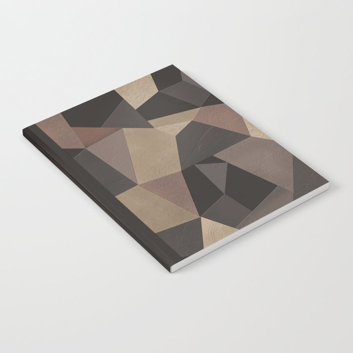 Brown pattern . Leather patches . Notebook