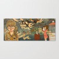 moonrise kingdom Canvas Prints featuring Moonrise Kingdom by Anne Lambelet