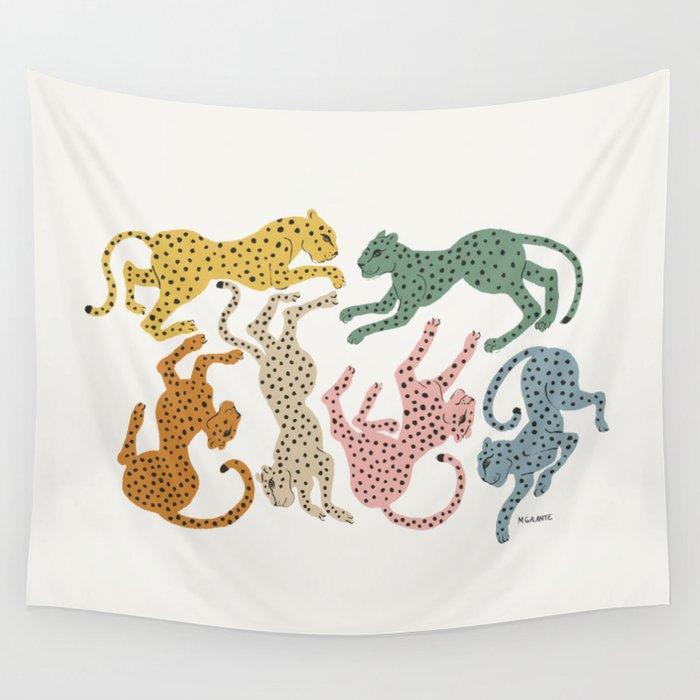 Rainbow Cheetah Wandbehang