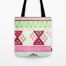 Neon Aztec Tote Bag