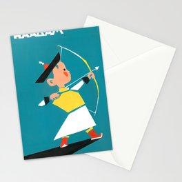 Naadam archery Stationery Cards
