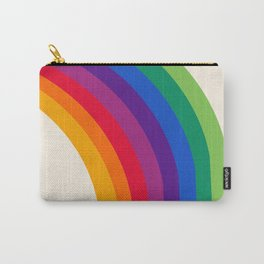 Groovy - rainbow 70s 1970s style retro throwback minimal happy hippie art decor Carry-All Pouch
