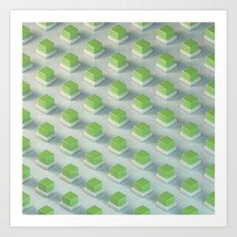 Energy Cubes Art Print