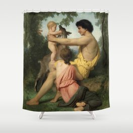"William-Adolphe Bouguereau ""Idylle: famille antique"" Shower Curtain"