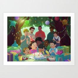 Blowing up cadles! Art Print