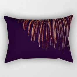 Beautiful Red and Orange Fireworks falling down in the sky! Rectangular Pillow