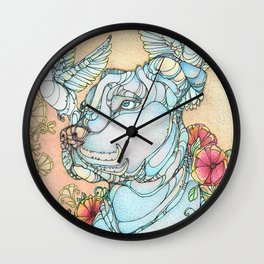 Peaceful Pitbull Wall Clock